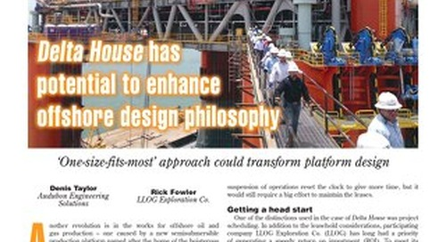 Delta House Has Potential to Enhance Offshore Design Philosophy