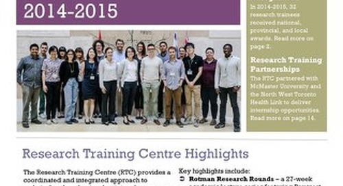 Research Training Centre Annual Report 2014-2015