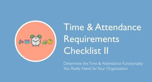 Time & Attendance Functionality Checklist
