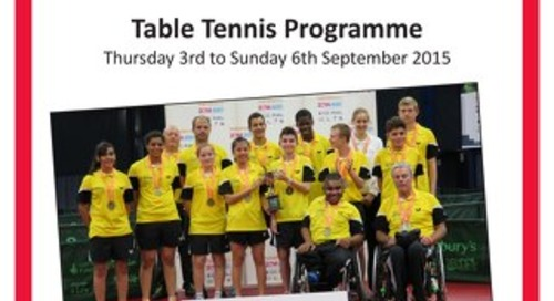 Sainsbury's 2015 School Games table tennis event