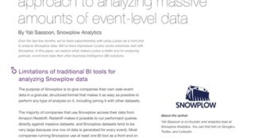Event Level Data Analysis with Snowplow