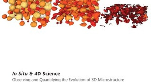 In Situ and 4D Science   Observe and Quantify the Evolution of 3D Microstructure