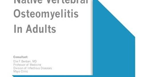 IDSA Vertebral Osteomyelitis