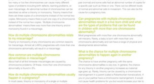 Multiple Chromosome Abnormalities: Anora Report Supplement
