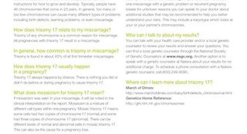 Trisomy 17: Anora Report Supplement
