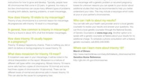 Trisomy 19: Anora Report Supplement