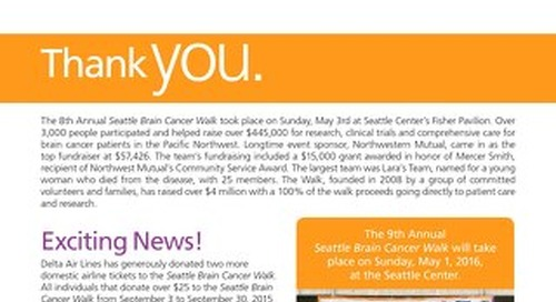 WalkTalk - September 2015 - Seattle Brain Cancer Walk