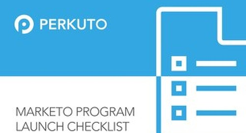 Marketo Program Launch Checklist