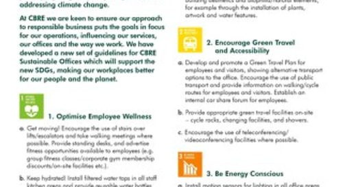 CBRE Sustainable Office Guidelines 2015