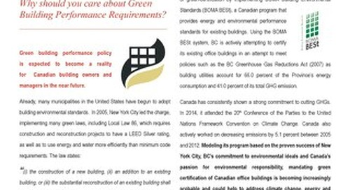 Canadian green building performance requirements