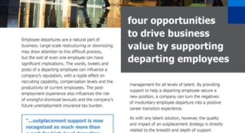 4 opportunities to drive business value by supporting departing employees