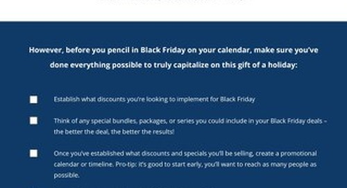 Black Friday Checklist