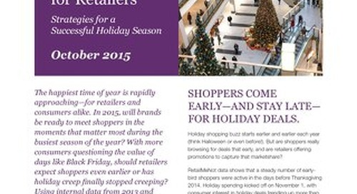 2015 Holiday Insights Guide for Retailers