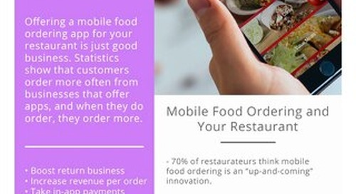 Turn your Restaurant Mobile with Food Ordering