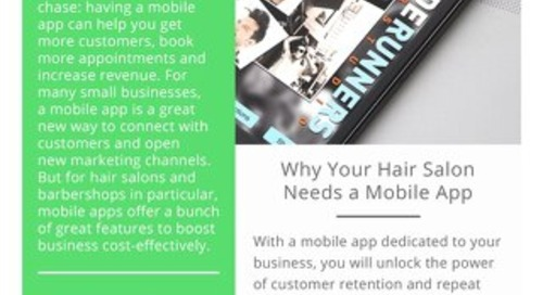 Why your Hair Salon Needs a Mobile App