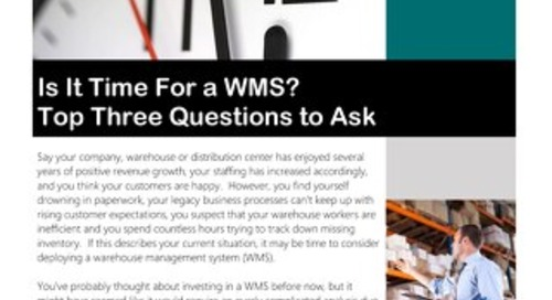 Is it Time for a WMS?