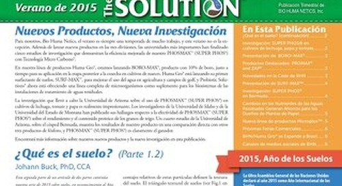 BHN Summer 2015 Newsletter (Spanish)