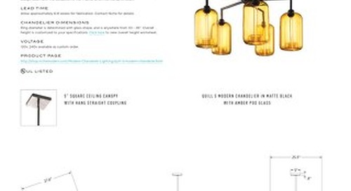 Quill 5 Chandelier - Tear Sheet