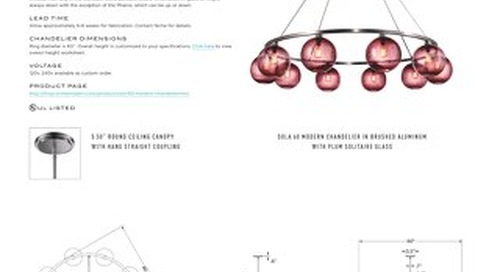 Sola 60 Chandelier - Tear Sheet
