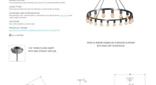 Spark 36 Chandelier - Tear Sheet