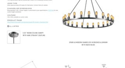 Spark 60 Chandelier- Tear Sheet