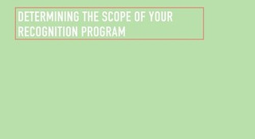 Determining the Scope of Your Recognition Program
