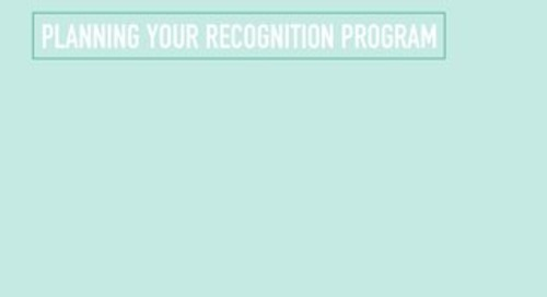 Planning Your Recognition Program