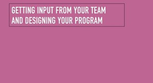 Getting Input from Team and Designing Your Program