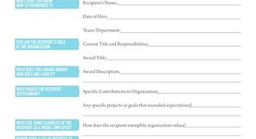 Award Presentation Guide