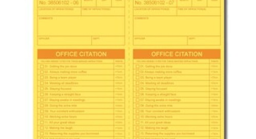 Fun Recognition Activity: Office Citation
