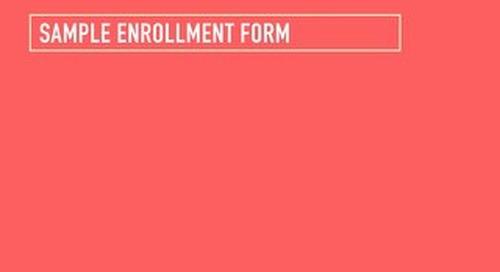 Health & Wellness Challenge: Sample Enrollment Form