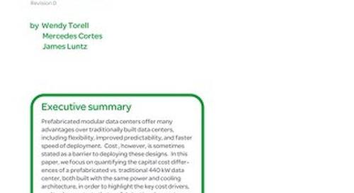 WP 218 - Quantitative Analysis of a Prefabricated vs. Traditional Data Center