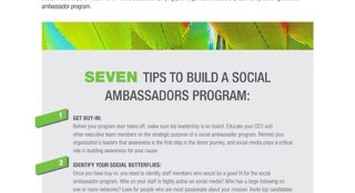 7 Tips to Build a Social Ambassadors Program