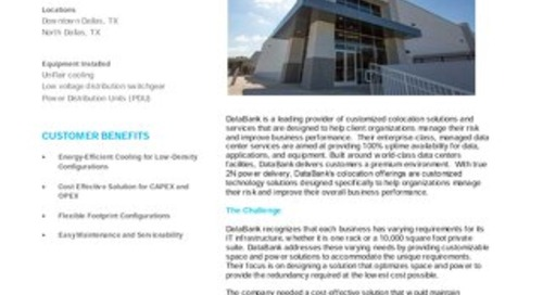 [Case Study] DataBank provides customers increased energy efficiency through innovative cooling solution