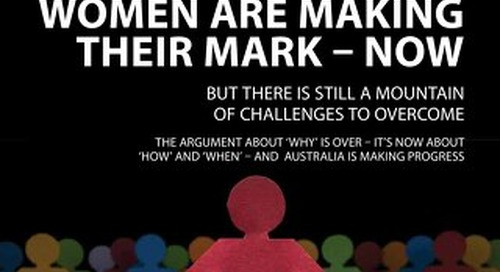 Focus 194: Women making their mark - now: but there is still a mountain of challenges to overcome
