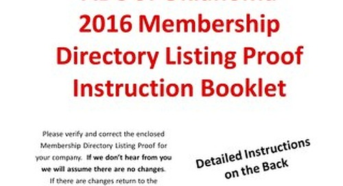 2016 Directory Instruction Pages