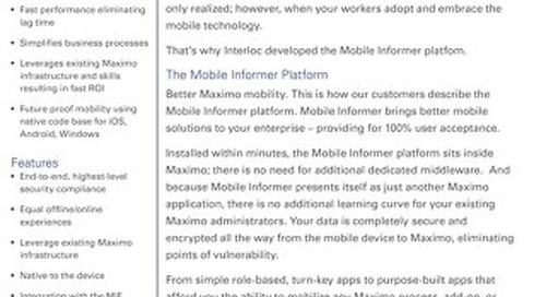 Mobile Informer Platform