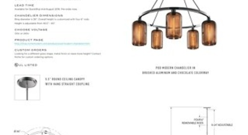 Pod Chandelier - Tear Sheet