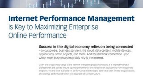 Internet Performance Management is Key to Maximizing Enterprise Online Performance