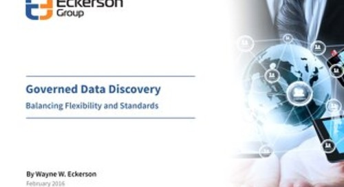 Governed Data Discovery 2016 - Eckerson Group