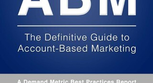 Definitive Guide To High-Performance Account Based Marketing