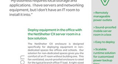 Deploying IT Equipment Outside of the Dedicated IT Space