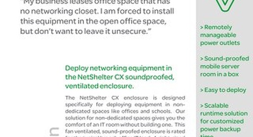 Deploying Networking Equipment Outside of the Dedicated IT Space