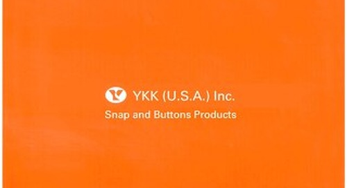YKK® fasteners snap and button catalog <Apparel>