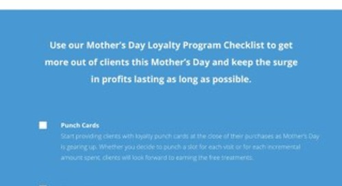 Mother's Day Checklist for Salons