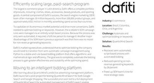 QuanticMind Customer Success Story - Dafiti