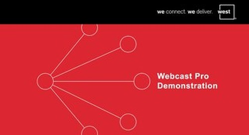 Webcast Pro Demonstration