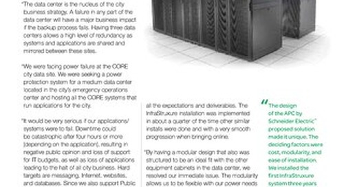 [Case Study] Florida city avoids downtime with APC by Schneider Electric InfraStruxure