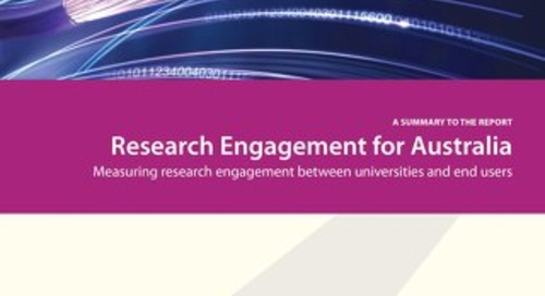 Research Engagement for Australia: Measuring research engagement between universities and end users (Summary Report)