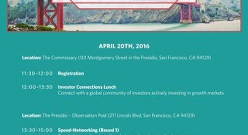 Endeavor Investor Network San Francisco – Investor Agenda